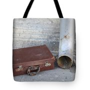 Old Cardboard Suitcase In The Street Tote Bag