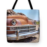 Old Cars In The Desert, Eldorado Canyon, Nevada Tote Bag by Edward Fielding