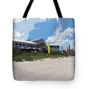 Old Casino On An Atlantic Ocean Beach In Florida Tote Bag by Allan  Hughes