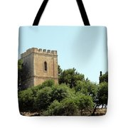 Old Castle In Hebron Tote Bag