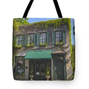 Old Charleston Gardens On 61 Queen Street Tote Bag