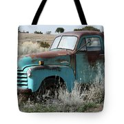 Old Chevy Farm Truck In The Field Tote Bag