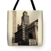Old Chicago Theater - Vintage Art Tote Bag
