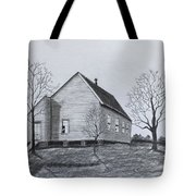 Old Church At Beatties  Ford Tote Bag