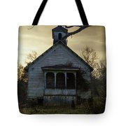 Old Church At Sunset Tote Bag