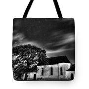 Old Church B/w  Tote Bag
