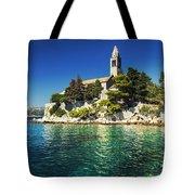Old Church On Croatian Island Tote Bag