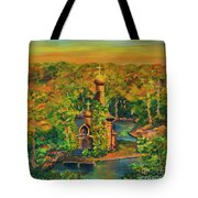 Old Church On The River Tote Bag