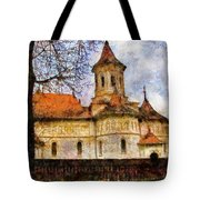 Old Church With Red Roof Tote Bag