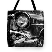 Old Classic Car In Black And White Tote Bag
