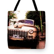 Old Classic Dodge, On The Streets Of Buenos Aires Tote Bag