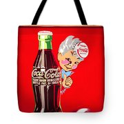 Old Coca-cola Red And White Coke Machine Vintage Vendo Model 44  Tote Bag