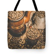 Old Coffee Brew House Beans Tote Bag