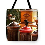 Old Coffee Grinders Tote Bag