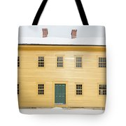 Old Colonial Era Period House In Winter Tote Bag