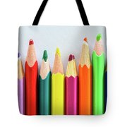 Old Colored Pencils Tote Bag