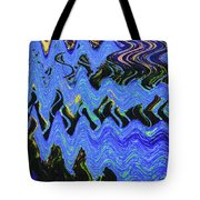 Old Columbia River Water Front Abstract Tote Bag