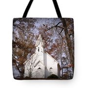 Old Country Church In Alabama Tote Bag