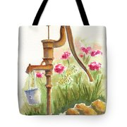 Old Country Pump Tote Bag