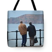 Old Couple Tote Bag