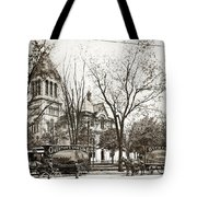 Old Courthouse Public Square Wilkes Barre Pa Late 1800s Tote Bag