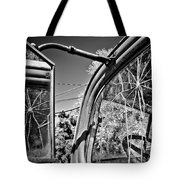 Old Cracked Glass Spider Web Tote Bag