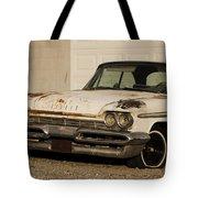 Old Desoto In Sepia Tote Bag