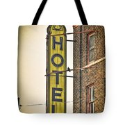 Old Detroit Hotel Sign Tote Bag