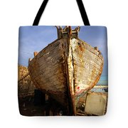 Old Dilapidated Wooden Boat  Tote Bag