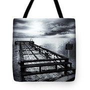 Old Dock Bw Tote Bag