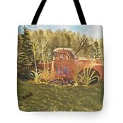 Old Dodge Truck In Garden Tote Bag