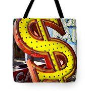 Old Dollar Sign Tote Bag