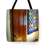 Old Door - New Quilt Tote Bag