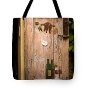 Old Door And Wine Tote Bag