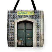 Old Door - Electronics Store Tote Bag