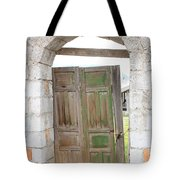 Old Door In A Brick Wall Tote Bag