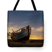 Old Dungeness Fishing Boat Under The Stars Tote Bag