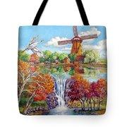 Old Dutch Windmill Tote Bag