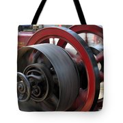 Old Economy Gas Engine On Display At A County Fair Tote Bag