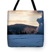 Old Faithful At Daybreak Tote Bag