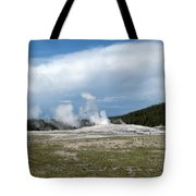 Old Faithful Before Tote Bag