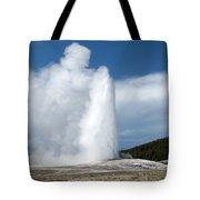 Old Faithful Erupts Tote Bag