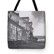 Old Farm Black And White Tote Bag