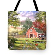 Old Farm House Variant 1 Tote Bag