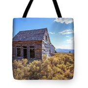 Old Farm House Widtsoe Utah Ghost Town Tote Bag