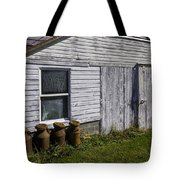 Old Farm Milk Cans Tote Bag