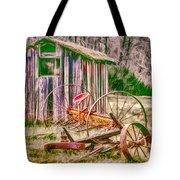 Old Farm Tools Tote Bag