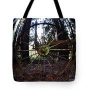 Old Farm Wagon Wheel Tote Bag
