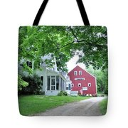 Old Farmhouse And Red Barn Tote Bag