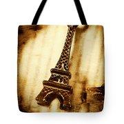 Old Fashion Eiffel Tower Souvenir Tote Bag